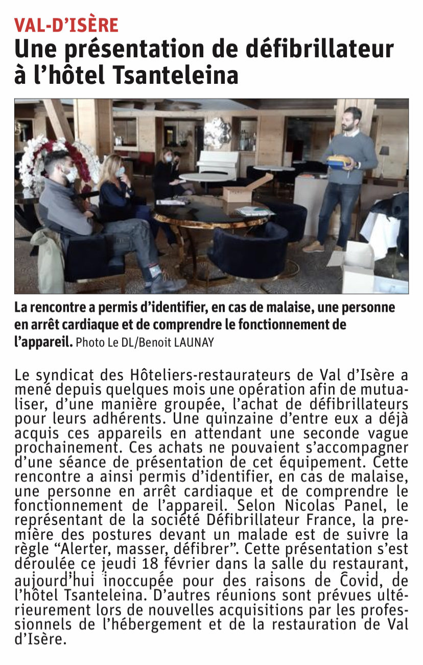 ARTICLE DAUPHINE LIBERE